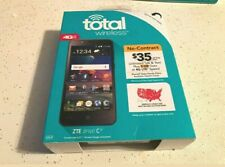 NEW - Total Wireless ZTE ZFive C 4G LTE Prepaid Phone 16GB Black