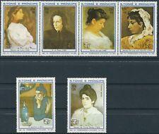 S.Tome Príncipe - Frauengemälde von Picasso Satz postfrisch 1982 Mi. 801-806