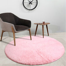 Round Area Rugs for Children Play Super Soft Mat Living Room Home Shaggy Carpet