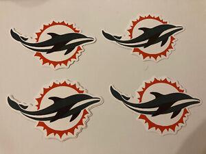 NFL Aufkleber Miami Dolphins. 4 Stck