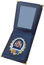 Cartera Portaplaca de Piel-Seguridad Privada, Billetera, Color Negro