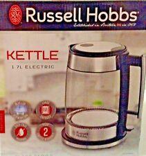 Russell Hobbs Glass 1.7L Electric Kettle, Black  Stainless Steel, KE7900BKR