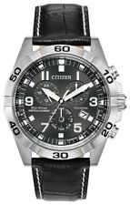 Citizen Eco-Drive Men's Titanium Chronograph Date Calendar 43mm Watch Bl5551-14H