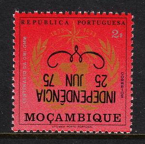 MOZAMBIQUE — SCOTT 521v — INVERTED INDEPENDENCE OVERPRINT — MNH