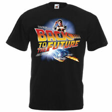 BACK TO THE FUTURE Movie Poster T shirt Black all sizes