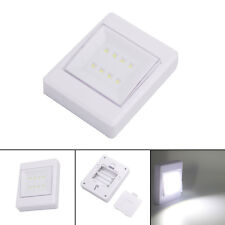 8 LED Cordless Battery Operated Wireless Night Lights Switch Cabinet Shelf Shed