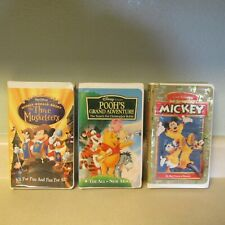 LOT 3 VHS DISNEY TAPES POOH'S GRAND ADVENTURE THREE MUSKETEERS SPIRIT OF MICKEY!