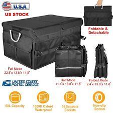Car Trunk Suv Cargo Organizer Folding Collapsible Caddy Storage Box Bag Bin Us