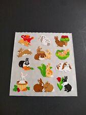 Vintage Sandylion Stickers Micro Prism Bunny Rabbits Animals Sticker Mod VTG