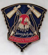 19e11461fd94 Patch JOHNNY HALLYDAY-WESTERN PASSION - Brodé main fils metal - TOMAHAWK