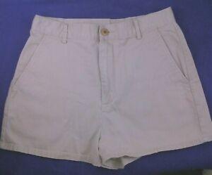 J CREW light khaki fine cotton high rise short length shorts size 10