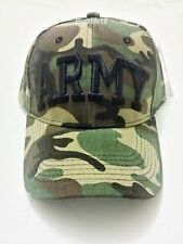 New Mens Womens Unisex Green Camouflage ARMY Peak Snapback Hat Cap
