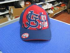 ST JOHNS RED STORM CAP-DK BLUE W/ RED PANEL TEAM NAME ON FRONT IN WHITE ZFIT M/L