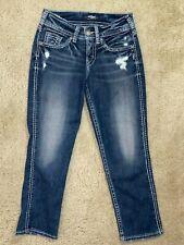 Silver Suki Capri Denim women jeans size 25