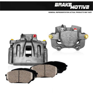 Front Calipers and Brake Pads For 2014 2015 2016 Jeep Cherokee