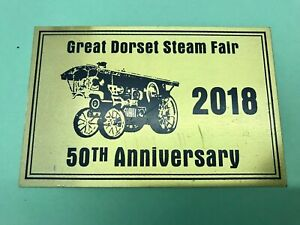 Great Dorset Steam Fair 2018 50TH ANNIVERSARY Appearance Plaque, show's archive