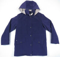 NWOT Nautica Hooded Full Zip Snap Quilt Lined Purple Womens Coat Jacket M