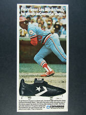 1978 Lou Brock photo Converse Baseball Shoes Cleats vintage print Ad