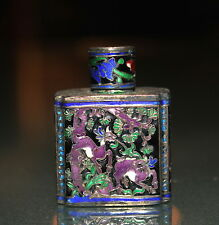 Antique Chinese Sliver enamel perfume bottle, snuff bottle 339B