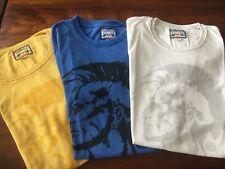 3 Stk. DIESEL T-Shirts Irokese , 1X DIESEL schwarz m. Print - Größe S neu