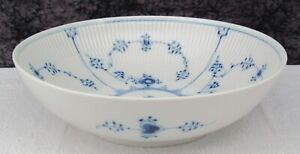 Vintage Royal Copenhagen Blue Fluted Plain Porcelain #1/19 Serving Bowl - 1st Q