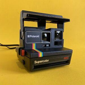 Polaroid 600 Camera Vintage + Original Manual + Carry Bag In Mint Condition