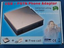 USB + PSTN PHONE ADAPTOR SKYPE COMPATIBLE