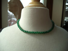 Genuine Jade Beads Necklace With 14K Gold Clasp