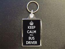 KEEP CALM I'M A BUS DRIVER KEYRING GIFT BAG TAG BIRTHDAY GIFT