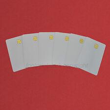 6 PCs Contact IC card SLE4442 Chip Smart Card  PVC  White No Printing