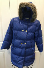Hanna Anderson Girls down Puff Coat Jacket Hooded Size 10-12