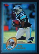 NFL 163 Dee Brown Carolina Panthers TOPPS 2003