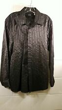 Versace Classic V2 Black Striped Button Up Shirt Sz 16.5/42