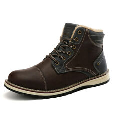 Winter Mens Walking Shoes Plus Lambswool Outdoor Snow Hiking Casual Martin Boots