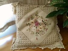 65%OFF Natural  Handmade Quilted Patchwork Cushion Cover Laura Ashley Fabric A04