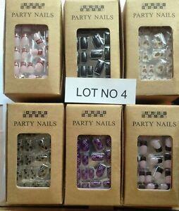 Wholesale lot 35p 66 packs + False Nails pre glued press on fake nail tips