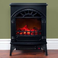 Electric 300 sq/ft  Wood-burning Stove Freestanding Rustic Log Heater Fireplace