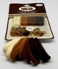 HALSA Professional Hair Care Elastics 100 pcs New On Card Neutrals