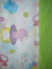 """8 SHEETS 20"""" x 20 PACIFIERS & BOTTLES NEW BABY TISSUE GIFT WRAP PAPER"""