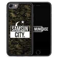 iPhone 8 Hülle SILIKON - Samsun City Camouflage - Motiv Design Türkei Türkiye T