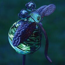 Garden Stake Yard Art Illuminarie Dragonfly Glow Light Design Home Patio Decor