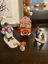 Dept 56. Snow Village Carnival Tickets and Cotton Candy Girl Broken Item #54938