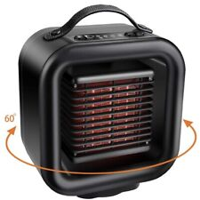 Portable Ceramic Space Heater Desk Floor Fan Tip Over Overheating Protection