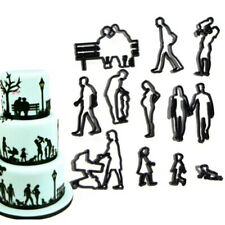 Cortador de Galletas Fondant Galletas Molde Cortador de la vida familiar Pastelería Molde de torta Tp