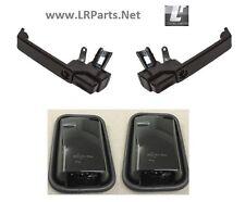 NEGRO BRILLANTE Puerta Mango y Espejo Kit para Land Rover Defender en lrc1112