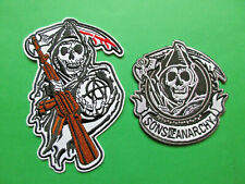 SONS OF ANARCHY REAPER SOA MOTORCYCLE CLUB HARLEY DAVIDSON BIKER VEST PATCHES