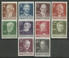 BERLIN. 1952. Famous Berliners Set. SG: B91/100. Mint Never Hinged.