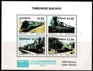 Australia 1992 Thirlmere Railway OP TAIPEI '93 Cinderella Sheetlet MNH