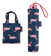Totes toasties  Dachshund Umbrella and Folding Shopping  Bag Gift Set