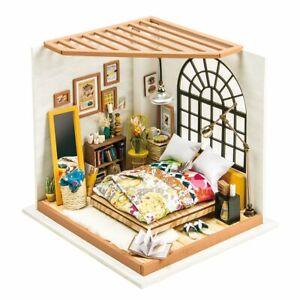 Robotime DIY Miniature House ALICE'S DREAMY BEDROOM 3D Wooden Model Kit NEW